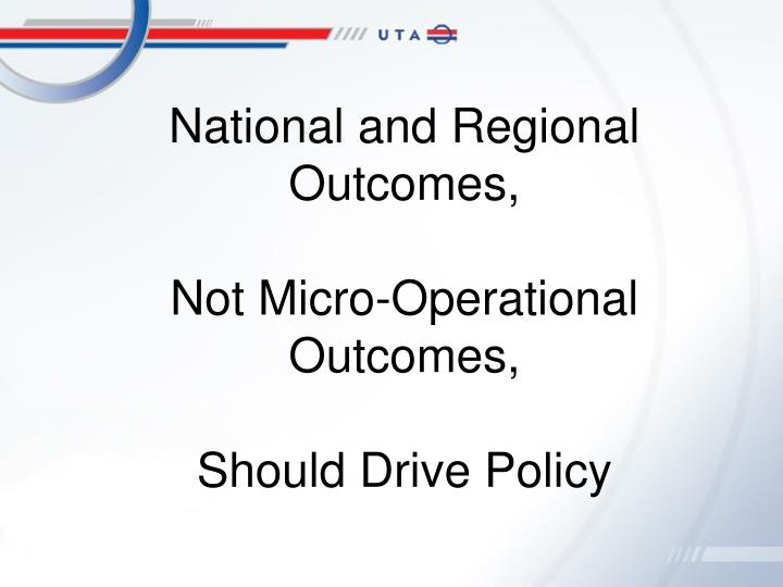 National and Regional Outcomes,