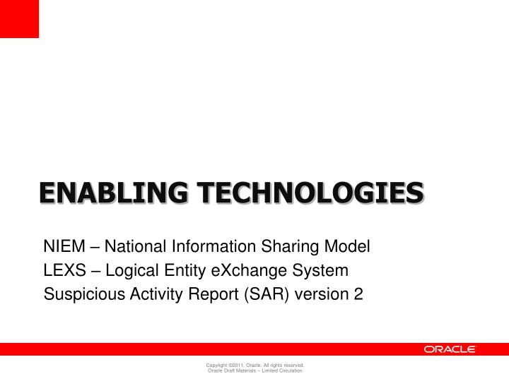 NIEM – National Information Sharing Model