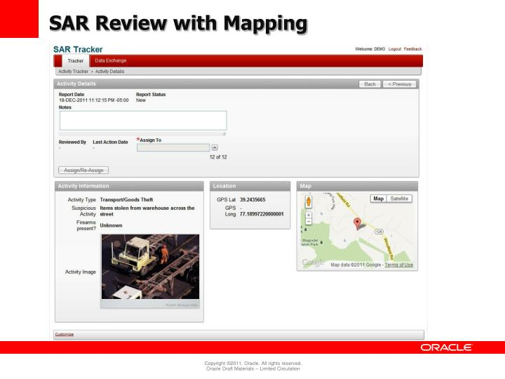 SAR Review with Mapping