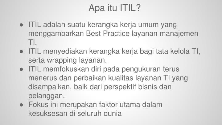 Apa itu ITIL?