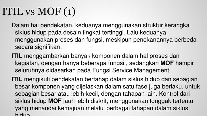 ITIL vs MOF (1)