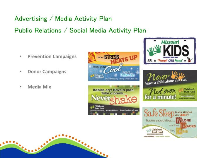 Advertising / Media Activity Plan
