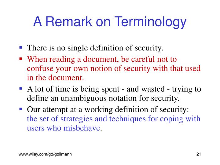 A Remark on Terminology