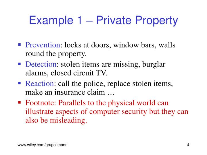 Example 1 – Private Property