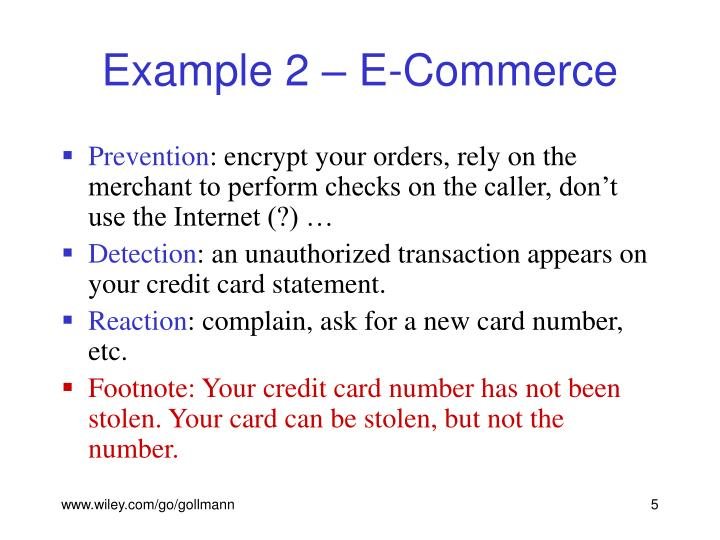 Example 2 – E-Commerce