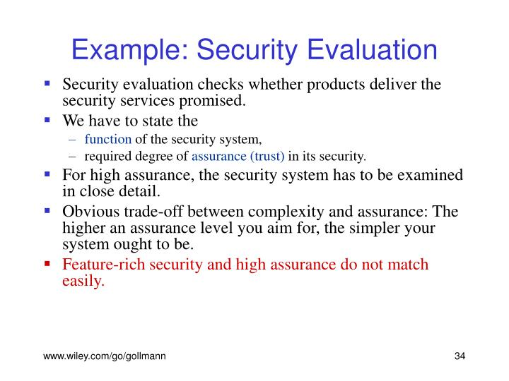 Example: Security Evaluation