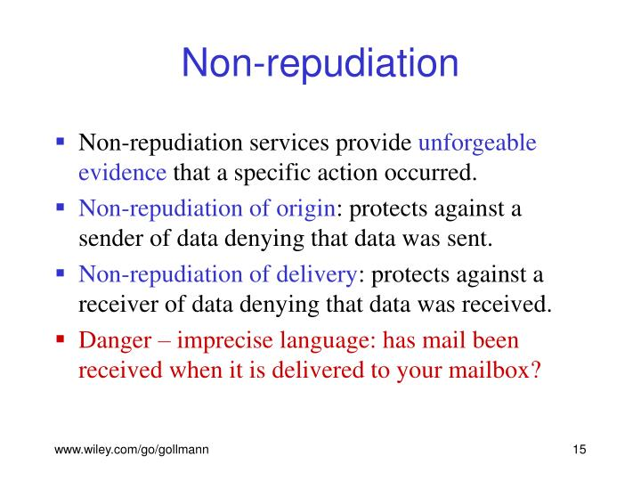 Non-repudiation