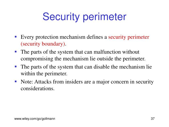 Security perimeter