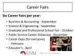career fairs