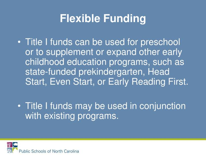 Flexible Funding