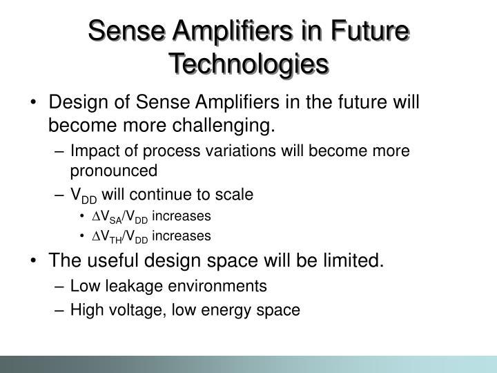 Sense Amplifiers in Future Technologies