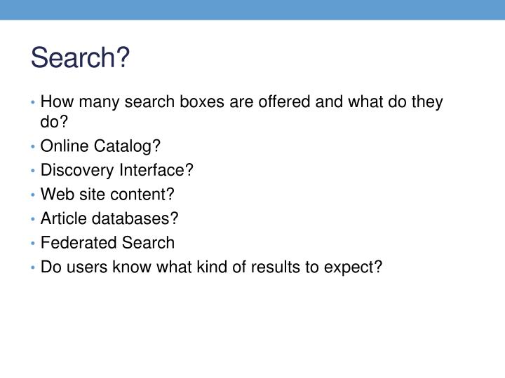 Search?