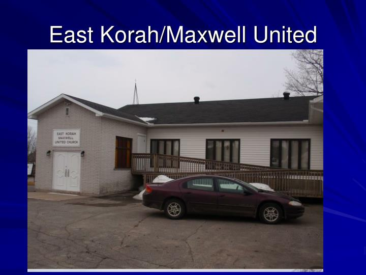 East Korah/Maxwell United