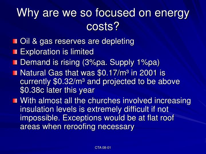 Why are we so focused on energy costs?