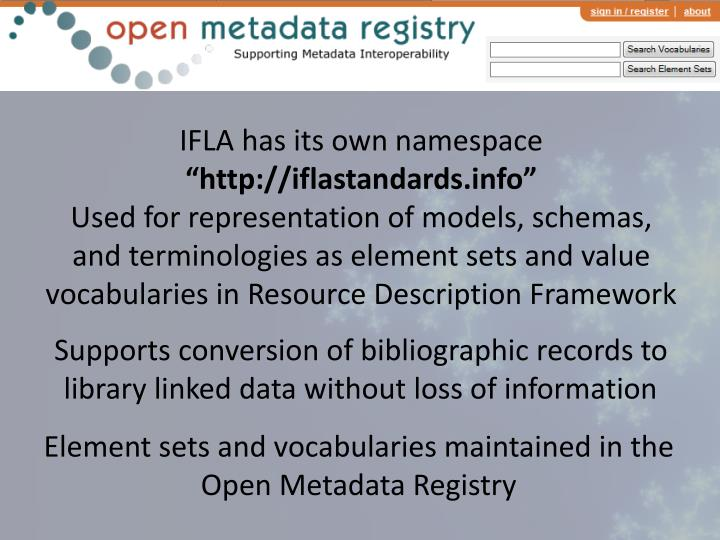 IFLA has its own namespace