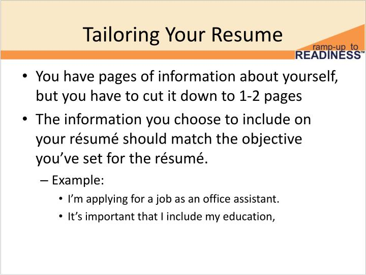 Tailoring Your Resume
