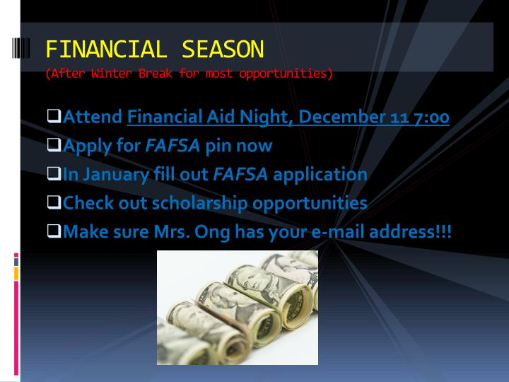 FINANCIAL SEASON