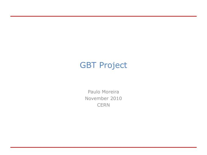 Gbt project