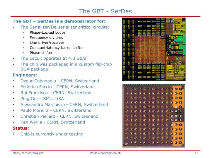 The GBT - SerDes