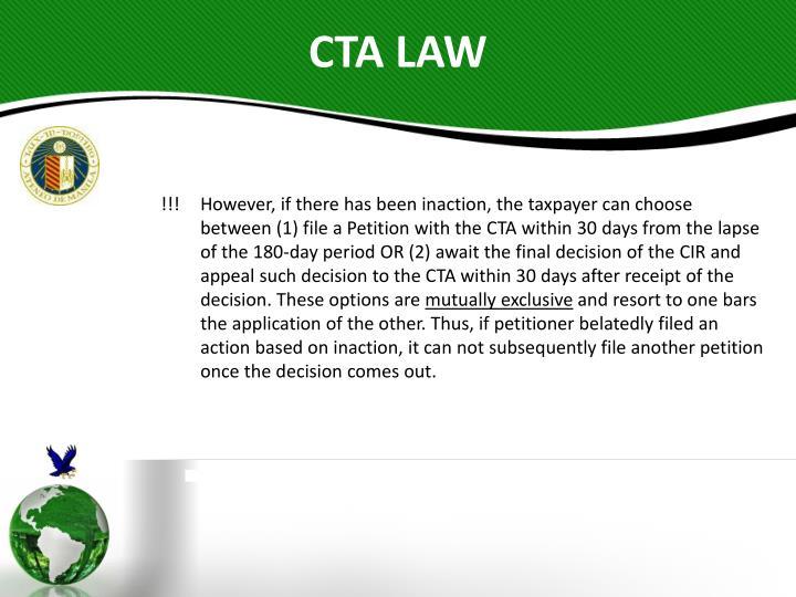 CTA LAW