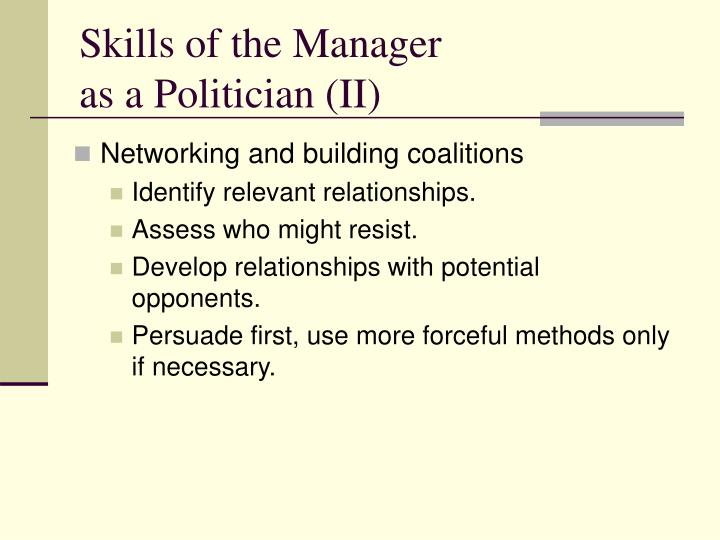 Skills of the Manager