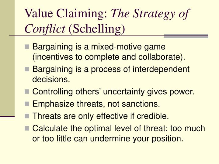 Value Claiming: