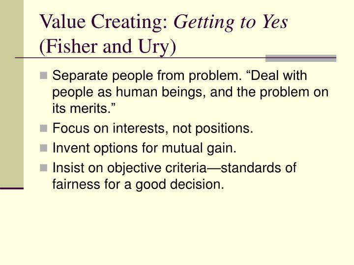 Value Creating: