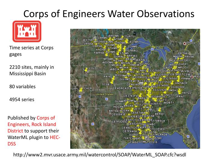 Corps of Engineers Water Observations