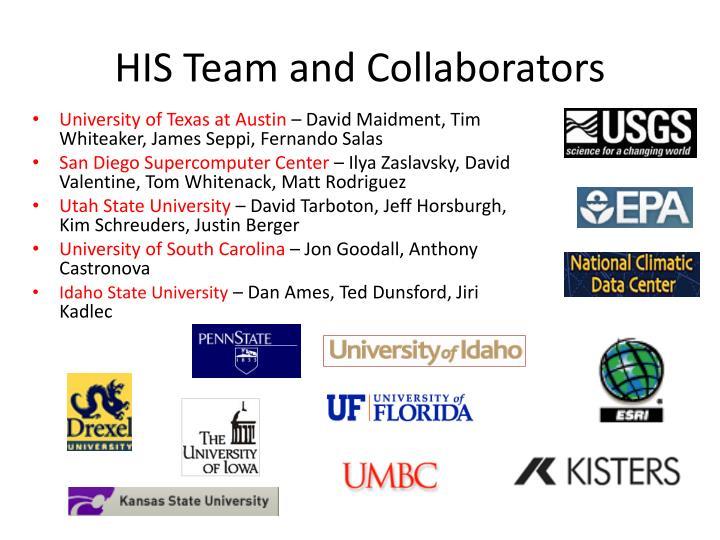 HIS Team and Collaborators