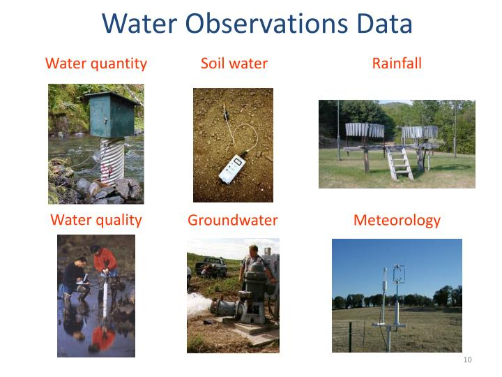 Water Observations Data