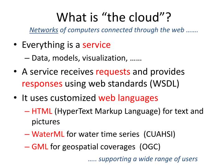 "What is ""the cloud""?"