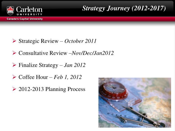 Strategy Journey (2012-2017)