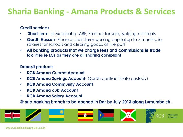 Sharia Banking - Amana Products & Services