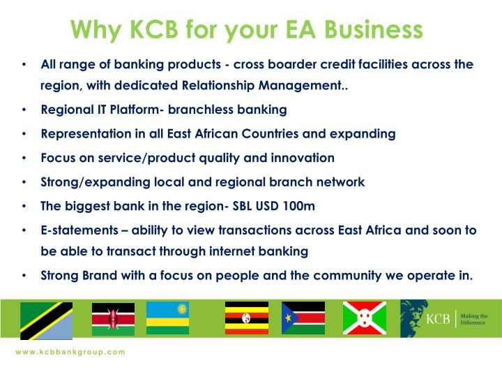 Why KCB for your EA Business