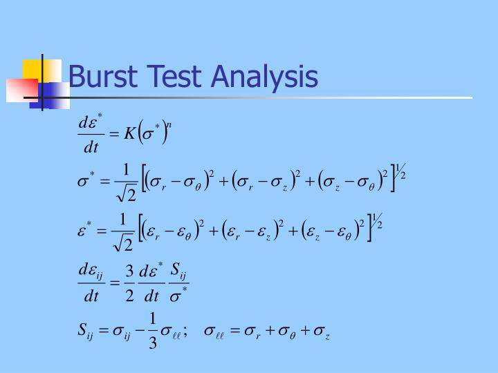 Burst Test Analysis