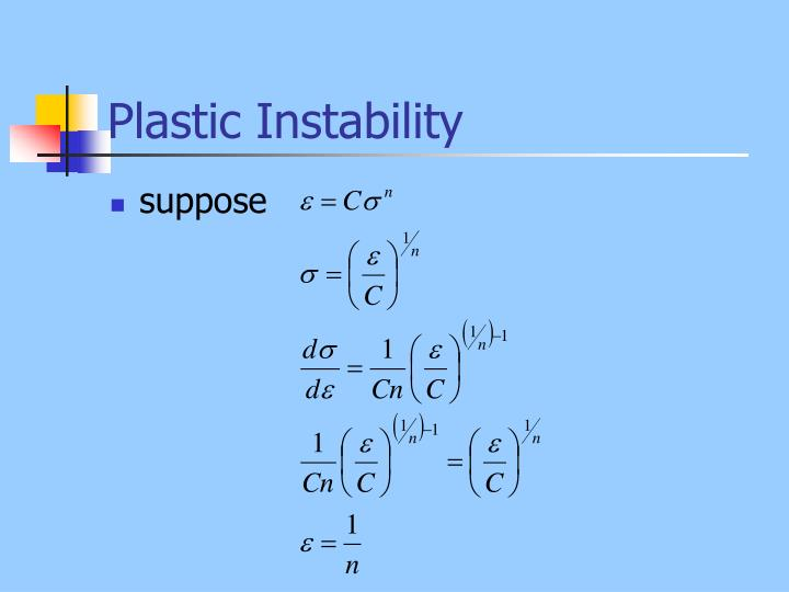 Plastic Instability