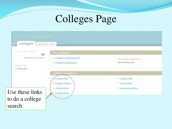 Colleges Page