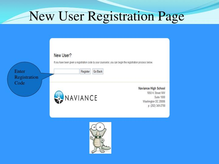 New User Registration Page