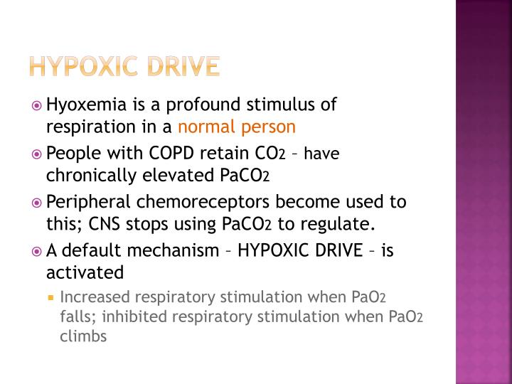 Hypoxic drive