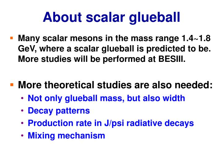 About scalar glueball