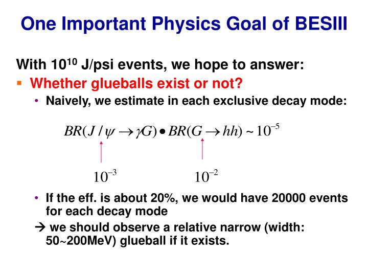 One Important Physics Goal of BESIII