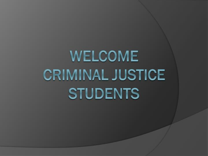 introduction to criminal justice cja204