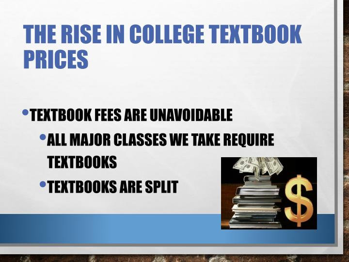 The Rise in College Textbook Prices
