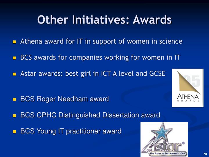 Other Initiatives: Awards