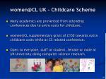 women@cl uk childcare scheme