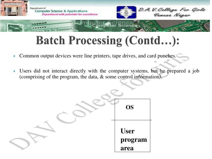 Batch Processing (