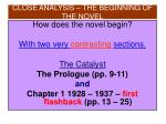 close analysis the beginning of the novel