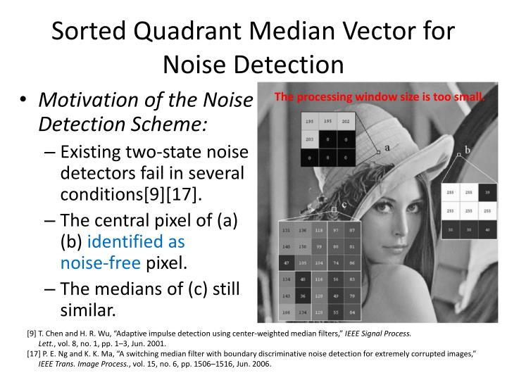Sorted Quadrant Median Vector for Noise