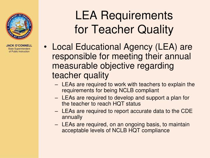 LEA Requirements