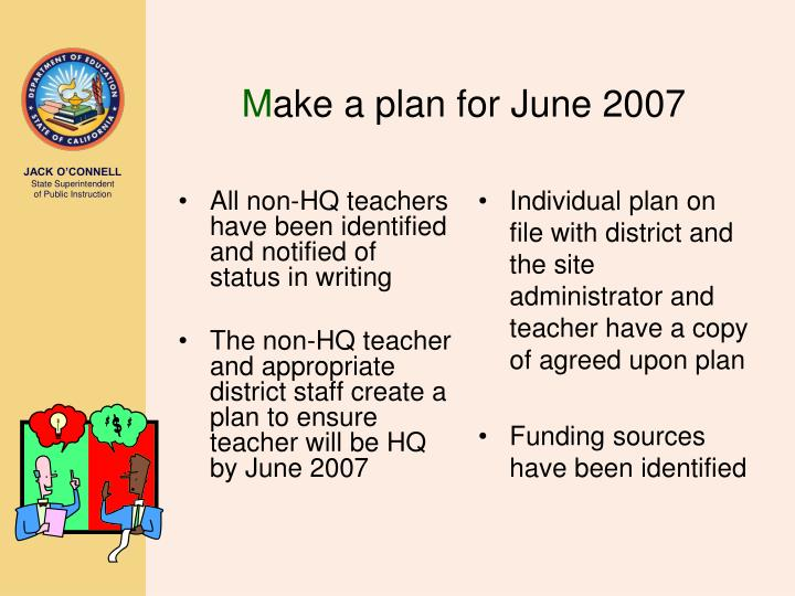 All non-HQ teachers have been identified and notified of status in writing